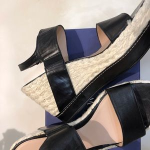 NWOT Stuart Weitzman Wedge Leather Sandals